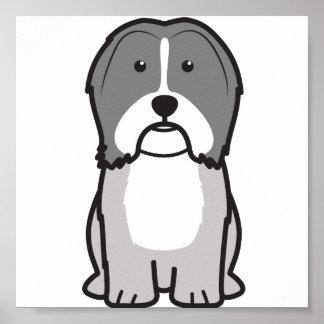 Dibujo animado del perro de Havanese Póster