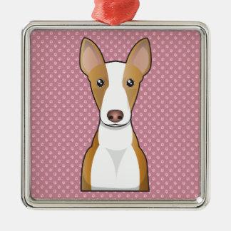 Dibujo animado del perro de Ibizan Adornos De Navidad