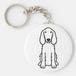 Dibujo animado del perro de Irish Setter Llavero Redondo Tipo Pin