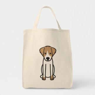 Dibujo animado del perro de Jack Russell Terrier Bolsa Tela Para La Compra