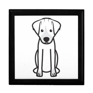 Dibujo animado del perro de Jack Russell Terrier Cajas De Joyas