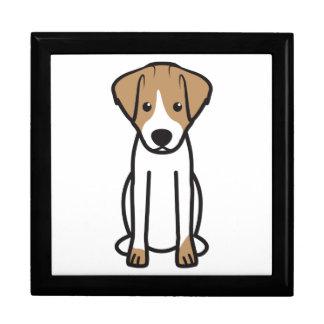 Dibujo animado del perro de Jack Russell Terrier Caja De Joyas