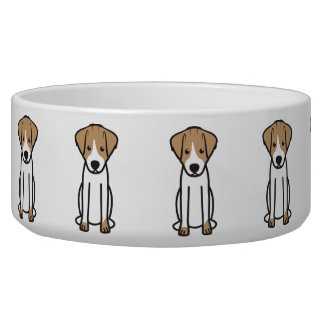 Dibujo animado del perro de Jack Russell Terrier Tazón Para Perro