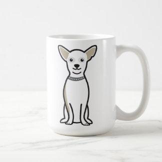 Dibujo animado del perro de la chihuahua taza básica blanca