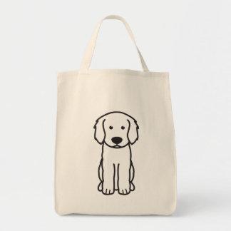 Dibujo animado del perro de Labradoodle Bolsa Tela Para La Compra