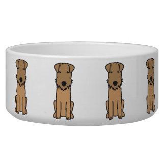 Dibujo animado del perro de Lakeland Terrier Tazones Para Perrros