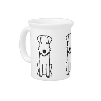 Dibujo animado del perro de Lakeland Terrier Jarrones