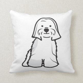 Dibujo animado del perro de Lasa Apso Cojines