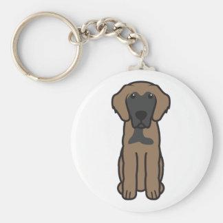 Dibujo animado del perro de Leonberger Llavero Personalizado