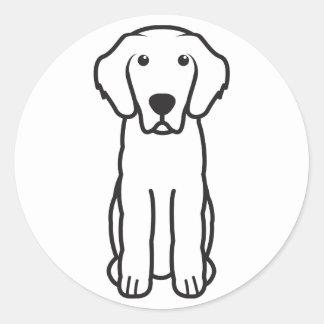 Dibujo animado del perro de Leonberger Pegatinas Redondas
