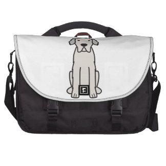 Dibujo animado del perro de los grandes Pirineos Bolsas Para Ordenador