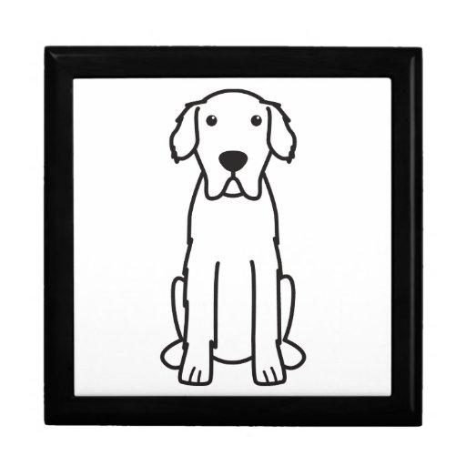 Dibujo animado del perro de los grandes Pirineos Cajas De Joyas