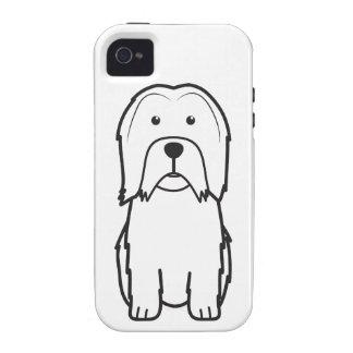 Dibujo animado del perro de Lowchen Case-Mate iPhone 4 Funda