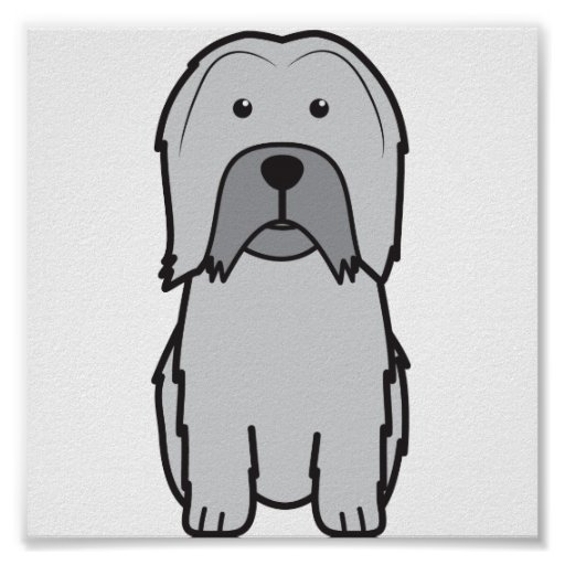 Dibujo animado del perro de Lowchen Poster