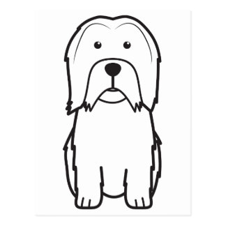 Dibujo animado del perro de Lowchen Tarjeta Postal