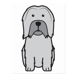 Dibujo animado del perro de Lowchen Tarjetas Postales