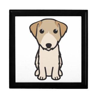 Dibujo animado del perro de Lucas Terrier Caja De Recuerdo