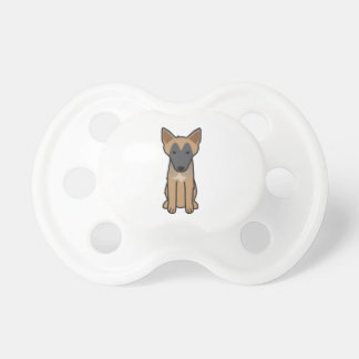 Dibujo animado del perro de Malinois del belga Chupete
