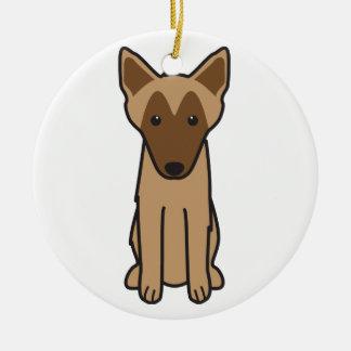 Dibujo animado del perro de Malinois del belga Adorno De Navidad