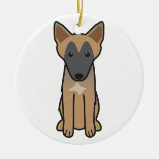 Dibujo animado del perro de Malinois del belga Adorno