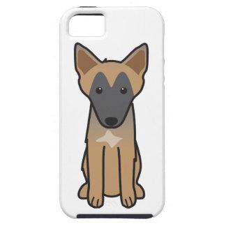 Dibujo animado del perro de Malinois del belga iPhone 5 Cobertura