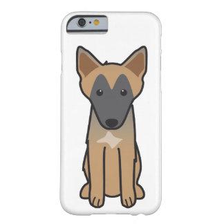Dibujo animado del perro de Malinois del belga Funda De iPhone 6 Slim