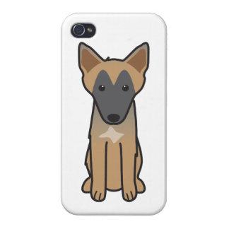 Dibujo animado del perro de Malinois del belga iPhone 4 Protectores