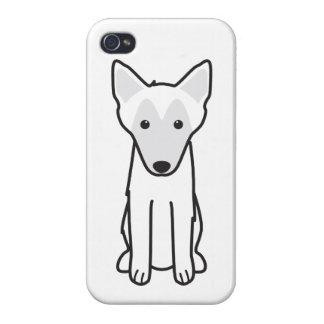 Dibujo animado del perro de Malinois del belga iPhone 4 Cárcasas