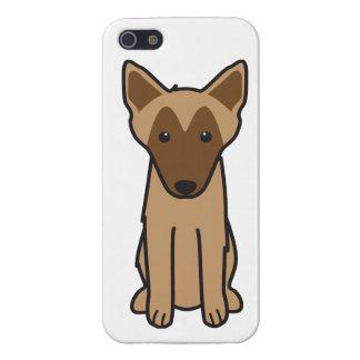 Dibujo animado del perro de Malinois del belga iPhone 5 Cárcasas