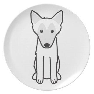 Dibujo animado del perro de Malinois del belga Platos De Comidas