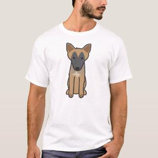Dibujo animado del perro de Malinois del belga Playera