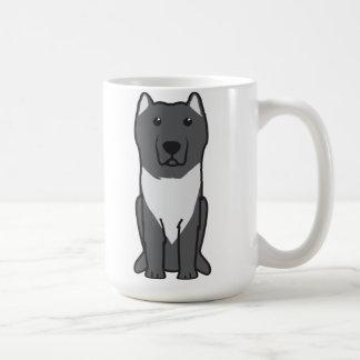 Dibujo animado del perro de Molossus del Aryan Taza