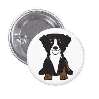 Dibujo animado del perro de montaña de Bernese Pin Redondo 2,5 Cm