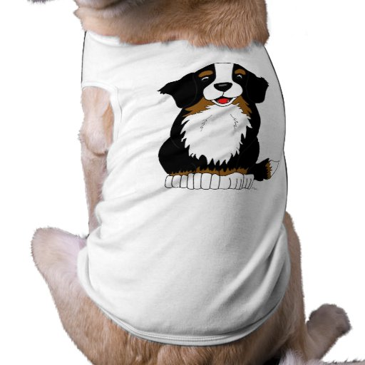 Dibujo animado del perro de montaña de Bernese Playera Sin Mangas Para Perro