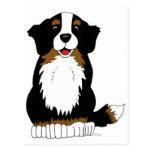 Dibujo animado del perro de montaña de Bernese Postales