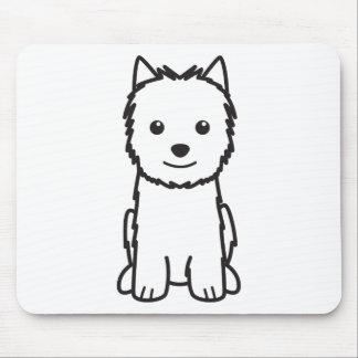 Dibujo animado del perro de Norwich Terrier Alfombrillas De Raton