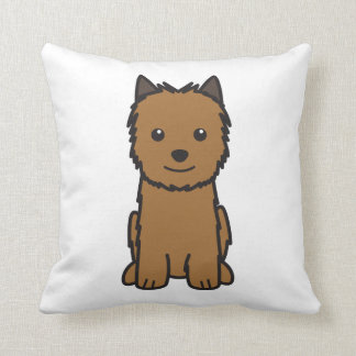 Dibujo animado del perro de Norwich Terrier Cojín