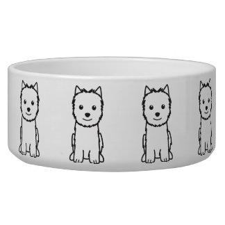 Dibujo animado del perro de Norwich Terrier Comedero Para Mascota