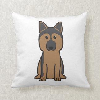 Dibujo animado del perro de pastor alemán cojín