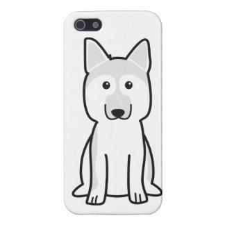 Dibujo animado del perro de pastor alemán iPhone 5 carcasas