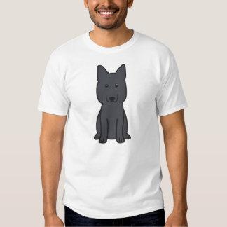 Dibujo animado del perro de pastor alemán remeras