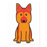 Dibujo animado del perro de pastor alemán tarjeta postal