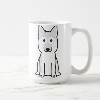 Dibujo animado del perro de pastor alemán taza básica blanca