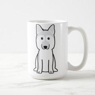 Dibujo animado del perro de pastor alemán taza clásica