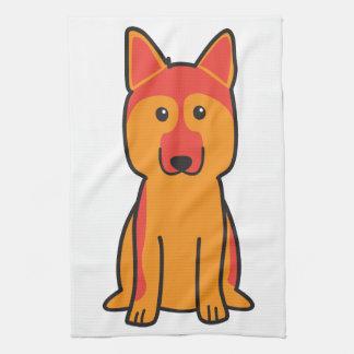 Dibujo animado del perro de pastor alemán toalla