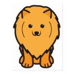 Dibujo animado del perro de Pomeranian Postal
