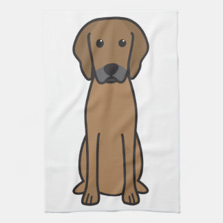 Dibujo animado del perro de Rhodesian Ridgeback Toallas De Mano