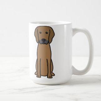 Dibujo animado del perro de Rhodesian Ridgeback Taza