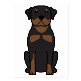 Dibujo animado del perro de Rottweiler Tarjetas Postales