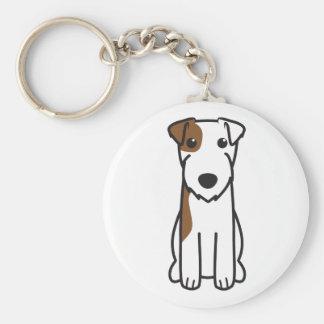 Dibujo animado del perro de Russell Terrier del pá Llaveros